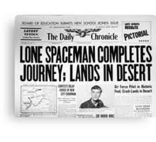 Lone Spaceman Canvas Print