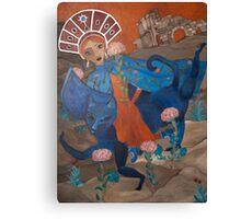 Agia Eleni and the Blue Cat Canvas Print
