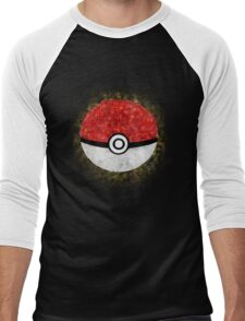 Electric Type Pokeball Men's Baseball ¾ T-Shirt