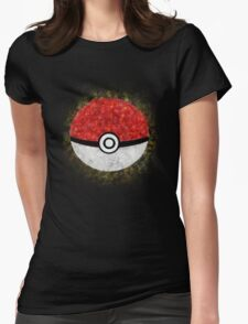 Electric Type Pokeball Womens Fitted T-Shirt