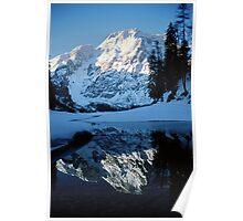 Lake Braies mountain reflection in winter - slide fine art - Lo specchio del Gigante Poster