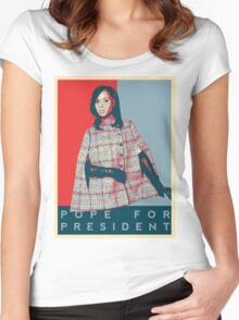 Scandal's 'Pope For President' T-Shirt Women's Fitted Scoop T-Shirt