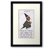 MBTI GHOSTS AND GHOULS- ISFP CUTE LITTLE PHEASANT BOY Framed Print