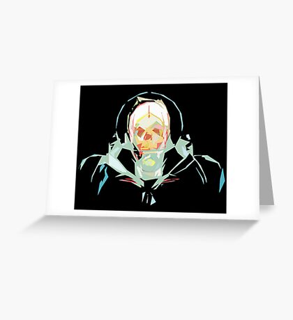 Lost in Space (black) Greeting Card