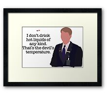 Kenneth Parcell The Devil's Temperature Framed Print