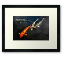 Inspirational - Gathering fish of Every kind - Matthew 13-47 Framed Print