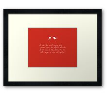 Be Like Two Sweet-Singing Birds [Red] Framed Print