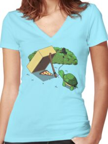 Turtle Trap Women's Fitted V-Neck T-Shirt