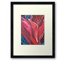 Flame Flower Framed Print