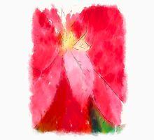 Mottled Red Poinsettia 2 Serene Unisex T-Shirt