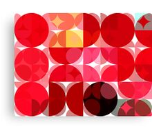 Mottled Red Poinsettia 2 Abstract Circles 3 Canvas Print