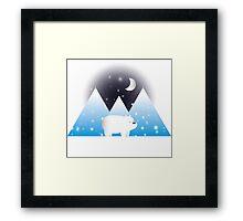 Ice Bear & Snow - We Bare Bears Framed Print