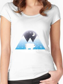 Ice Bear & Snow - We Bare Bears Women's Fitted Scoop T-Shirt