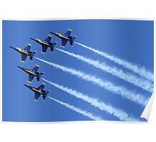 Blue Angels Delta Formation Poster