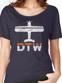 Fly Detroit DTW Airport Women's Relaxed Fit T-Shirt