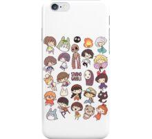 Studio Ghibli - Chibi Characters Collaboration [VERTICAL] iPhone Case/Skin