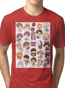 Studio Ghibli - Chibi Characters Collaboration [VERTICAL] Tri-blend T-Shirt