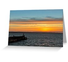 BURGHEAD BOXING DAY SUNSET Greeting Card