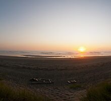 Wall art panoramic artistic color sunset on the pacific ocean - Il limite dell'Ovest by visionitaliane