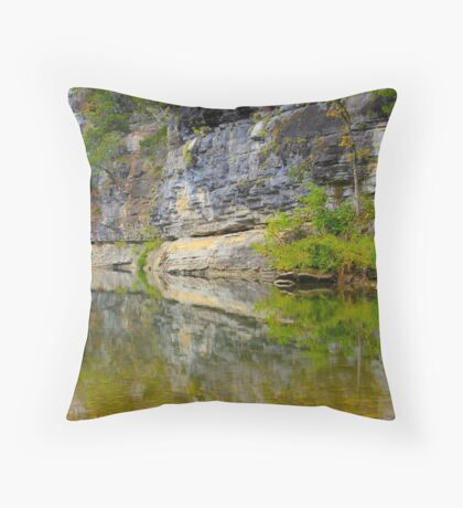 Buffalo National River,  Pruitt  Arkansas Throw Pillow