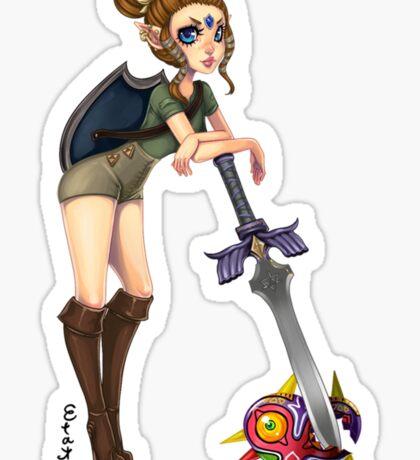 Kickass Zelda Sticker