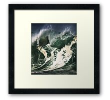 Monster Waves At Waimea Bay Framed Print