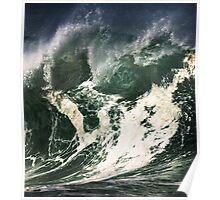 Monster Waves At Waimea Bay Poster