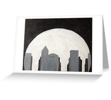 Moonlit City Greeting Card