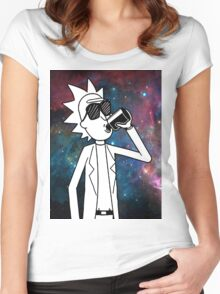 Rick Sanchez: Space Drunk  Women's Fitted Scoop T-Shirt