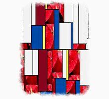 Mottled Red Poinsettia 2 Art Rectangles 4 Unisex T-Shirt