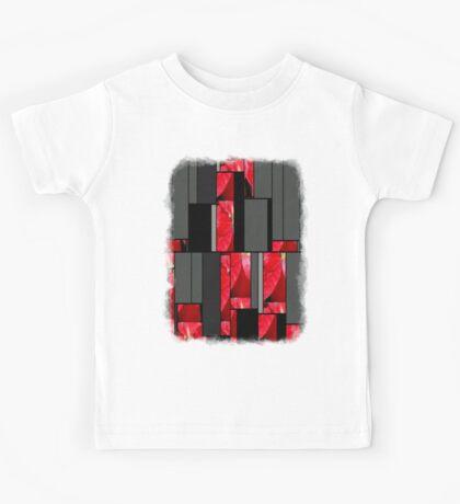 Mottled Red Poinsettia 2 Art Rectangles 7 Kids Tee