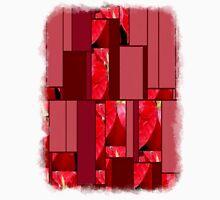 Mottled Red Poinsettia 2 Art Rectangles 8 Unisex T-Shirt