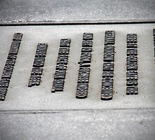 Raised Metal Lettering  by ValNg86