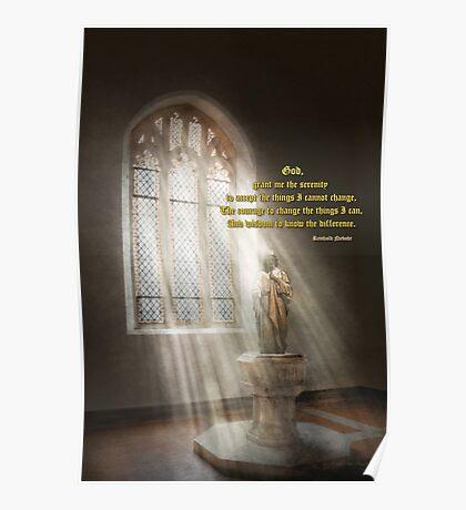 Inspirational - Heavenly Father - Senrenity Prayer  Poster