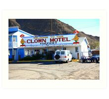 Tonopah, Nevada - Clown Motel Art Print