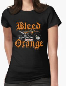 Bleed Orange Womens Fitted T-Shirt