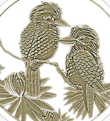 Two Kookaburras Sticker