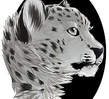 Majestic Snow Leopard by demonzee