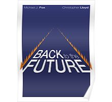 Minimalist Back to the Future Poster Poster