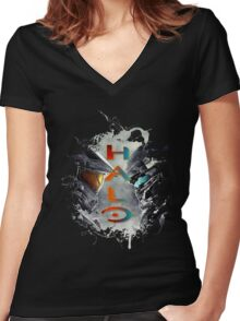 Halo - 5 Women's Fitted V-Neck T-Shirt