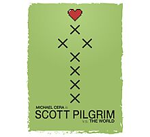 Minimalist Scott Pilgrim Poster Photographic Print