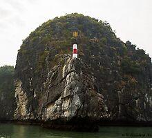 Watch tower on Halong Bay by vishwadeep  anshu