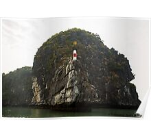 Watch tower on Halong Bay Poster