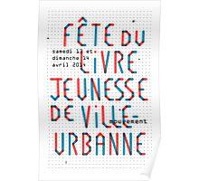 Fête du livre jeunesse de Villeurbanne - Typo Poster