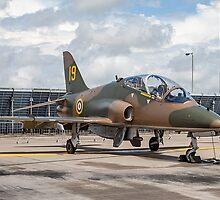 """Hawker-Siddeley Hawk T.1 XX184/19 - """"Hawkfire"""" by Colin Smedley"""