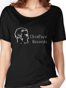 ChinFace Records (white) Women's Relaxed Fit T-Shirt