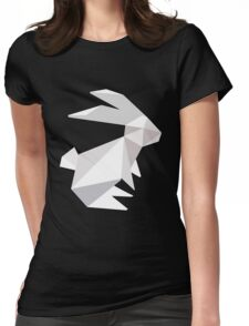 origami bunny  Womens Fitted T-Shirt