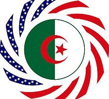 Algerian American Multinational Patriot Flag by Carbon-Fibre Media