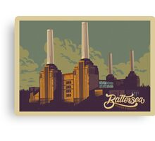 Battersea Power Station vintage style illustration Canvas Print