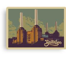 Battersea Power Station vintage style illustration Canvas Print